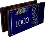 Электронное табло «Бегущая строка», модель Alpha 1000 R (3640x1040x120  мм)