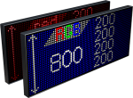 Электронное табло «Бегущая строка», модель Alpha 800 RGB (2440x840x120 мм)